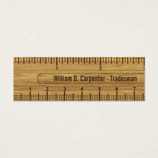 Wood Ruler or Rule Technical Business Card