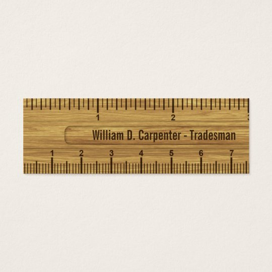 Wood ruler or rule technical business card zazzle wood ruler or rule technical business card colourmoves