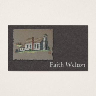 Wood Rural Church Business Card