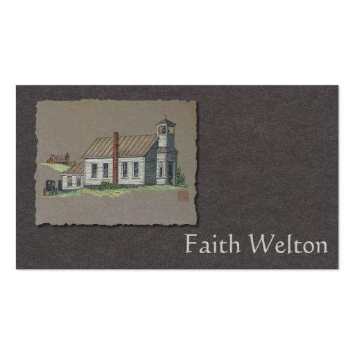 Wood Rural Church Business Cards