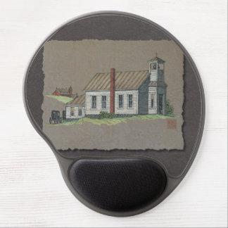 Wood Rural Church Gel Mouse Pad