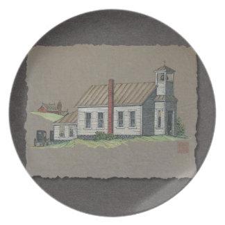 Wood Rural Church Plate