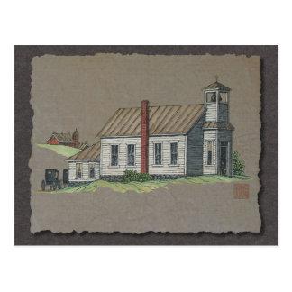 Wood Rural Church Postcard