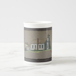 Wood Rural Church Tea Cup