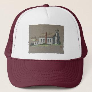 Wood Rural Church Trucker Hat