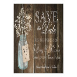 Wood Rustic Country Barn Wedding Save Date Magnetic Card
