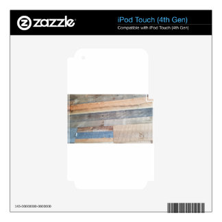 Wood rustic iPod touch 4G skin