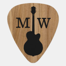 Wood Rustic Name acoustic Guitar Pick