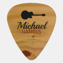 wood rustic rock pick with handwritten name