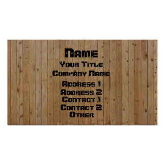 Wood & Screwed Double-Sided Standard Business Cards (Pack Of 100)