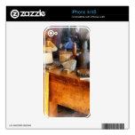 Wood Shop With Wooden Bucket iPhone 4 Decals