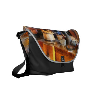 Wood Shop With Wooden Bucket Commuter Bag