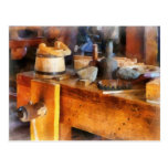 Wood Shop With Wooden Bucket Postcards