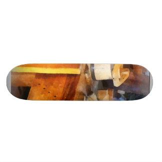 Wood Shop With Wooden Bucket Skateboard Deck