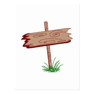 Wood Sign Postcard