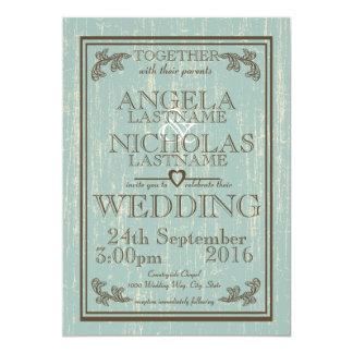 Wood Sign Wedding 5x7 Paper Invitation Card