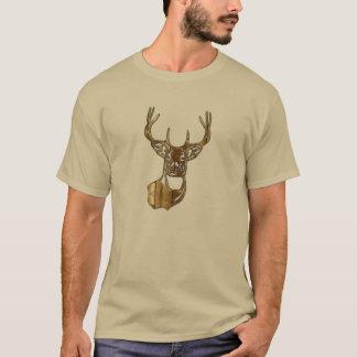 Wood Silhouette - White Tail Buck Deer T-Shirt