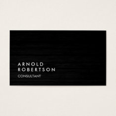 Wood Simple Plain Gray Trendy Business Card at Zazzle