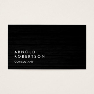 Wood Simple Plain Gray Trendy Business Card