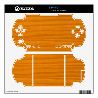 Wood Decal For The PSP