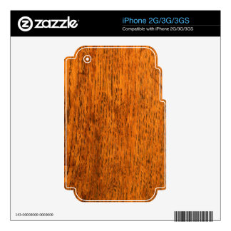 Wood iPhone 3G Decals