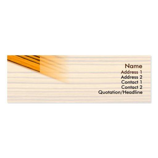 Wood - Skinny Double-Sided Mini Business Cards (Pack Of 20)