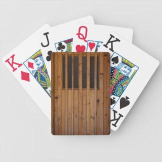 Wood Slats Beach Door Costa Brava Spain Bicycle Playing Cards