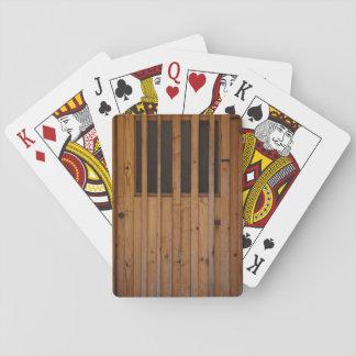 Wood Slats Beach Door Costa Brava Spain Playing Cards