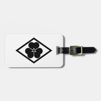 Wood sorrel in rhombus luggage tag