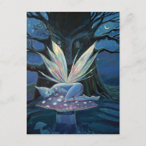 Wood Spirit - Fairy art postcard postcard