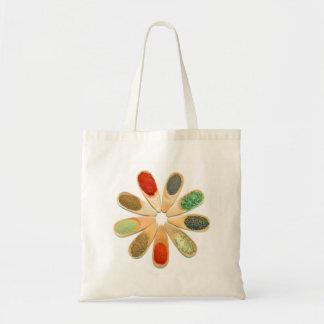 wood spoon spice food ingredient condiment flower tote bag