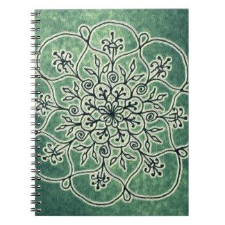 Wood Sprite- Moss Spiral Note Books