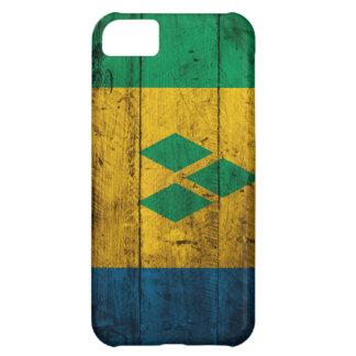 Wood St. Vincent & Grenadines Flag Case For iPhone 5C