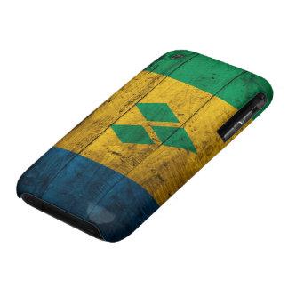 Wood St. Vincent & Grenadines Flag iPhone 3 Case-Mate Cases