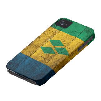 Wood St. Vincent & Grenadines Flag iPhone 4 Case
