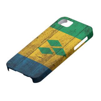 Wood St. Vincent & Grenadines Flag iPhone SE/5/5s Case