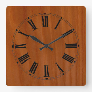 Wood Stained Cherry Wall Clock
