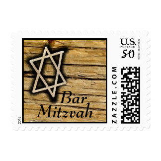 Wood Star Bar  Mitzvah Stamp 2