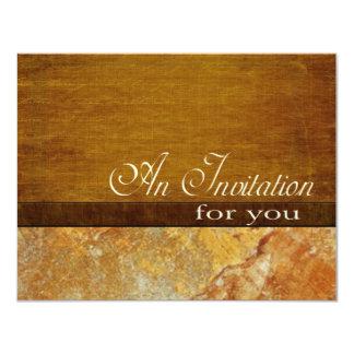 Wood Stone Business Executive Retirement 4.5x5.5 4.25x5.5 Paper Invitation Card