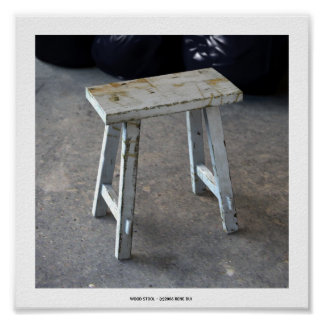 WOOD STOOL Poster