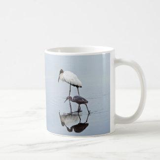 Wood Stork and Blue Heron Wading Coffee Mug