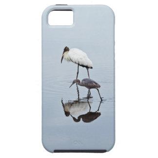 Wood Stork and Blue Heron Wading iPhone SE/5/5s Case