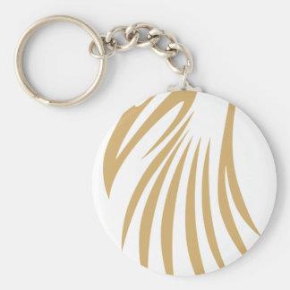Wood Stork Basic Round Button Keychain