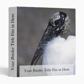 Wood Stork 3 Ring Binders