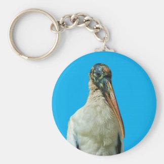 Wood Stork Bird  Keychain