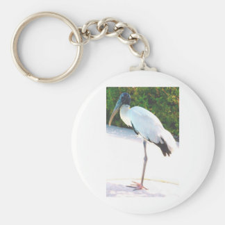 Wood stork in evening wear key chains