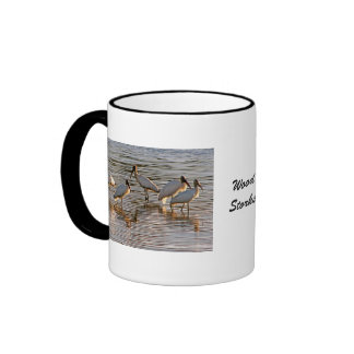 Wood Storks at Dusk Ringer Coffee Mug