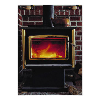 Wood stove card