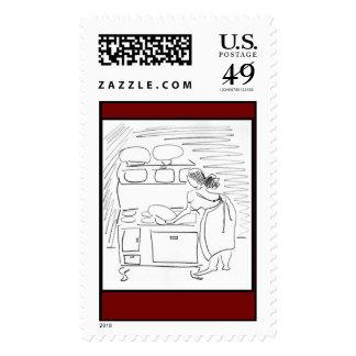 Wood Stove Postage Stamp