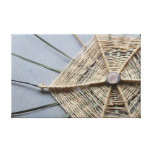 Wood String & Cattail Leaves Assemblage Oblique Canvas Print